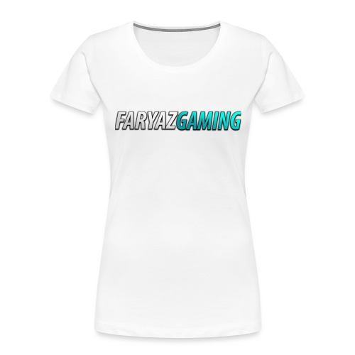 FaryazGaming Theme Text - Women's Premium Organic T-Shirt