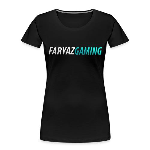 FaryazGaming Theme Text - Women's Premium Organic T-Shirt