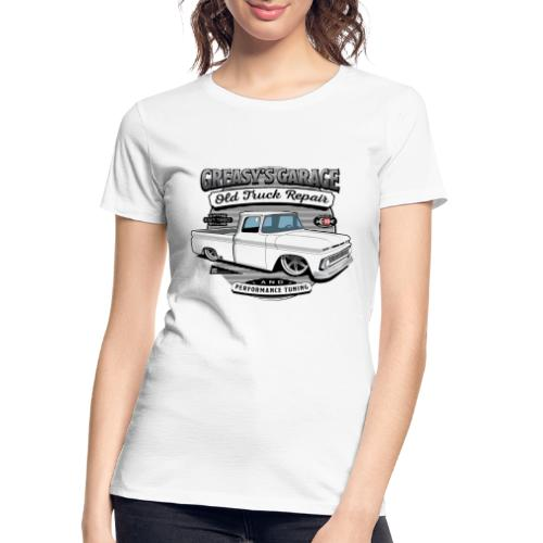 Greasy's Garage Old Truck Repair - Women's Premium Organic T-Shirt