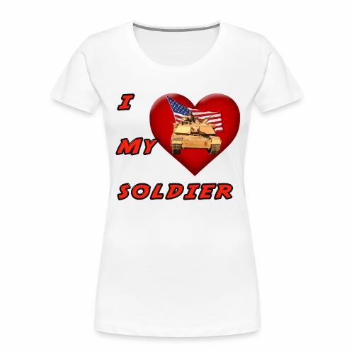 I Heart my Soldier - Women's Premium Organic T-Shirt