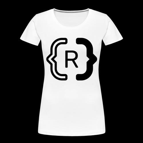square black reswitched R logo bmx3r - Women's Premium Organic T-Shirt