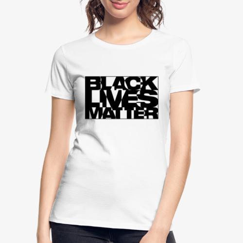Black Live Matter Chaotic Typography - Women's Premium Organic T-Shirt