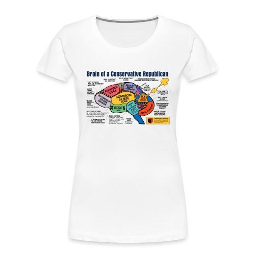 Brain of a Conservative Republican - Women's Premium Organic T-Shirt