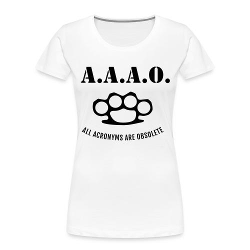A.A.A.O. - Women's Premium Organic T-Shirt