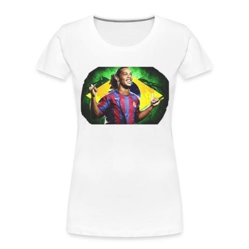Ronaldinho Brazil/Barca print - Women's Premium Organic T-Shirt