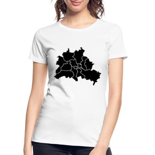Berlin map, districts - Women's Premium Organic T-Shirt