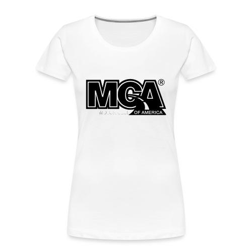 MCA Logo WBG Transparent BLACK TITLEfw fw png - Women's Premium Organic T-Shirt