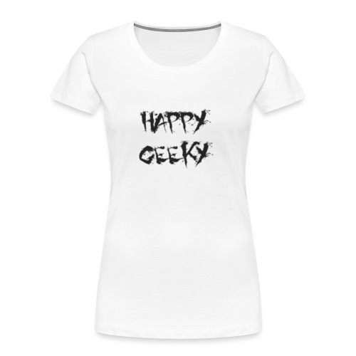 Happy_Geeky_-_Logo_Black - Women's Premium Organic T-Shirt