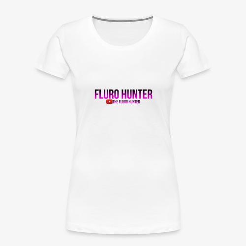 The Fluro Hunter Black And Purple Gradient - Women's Premium Organic T-Shirt