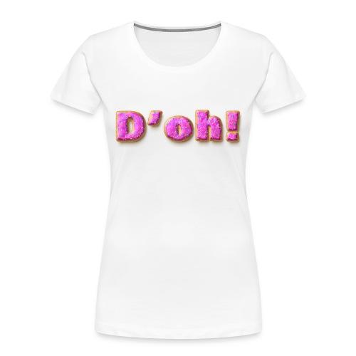 Homer Simpson D'oh! - Women's Premium Organic T-Shirt