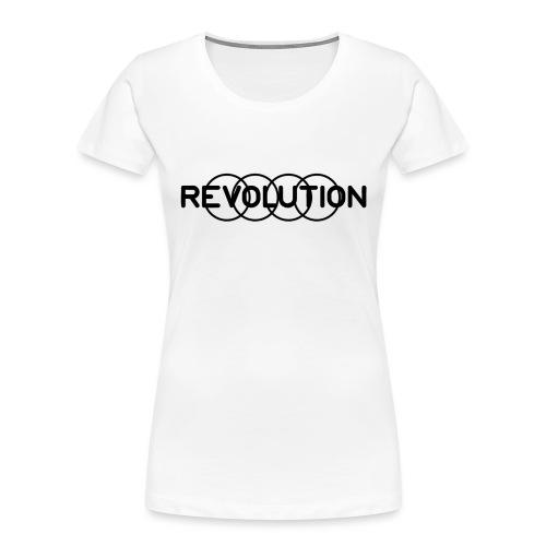 Revolution Black Logo - Women's Premium Organic T-Shirt