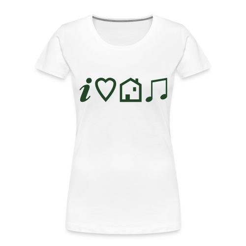 I Heart House Music - Symbolic Design 1 - Women's Premium Organic T-Shirt