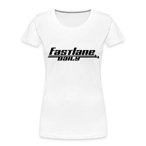 Fast Lane Daily logo - Women's Premium Organic T-Shirt