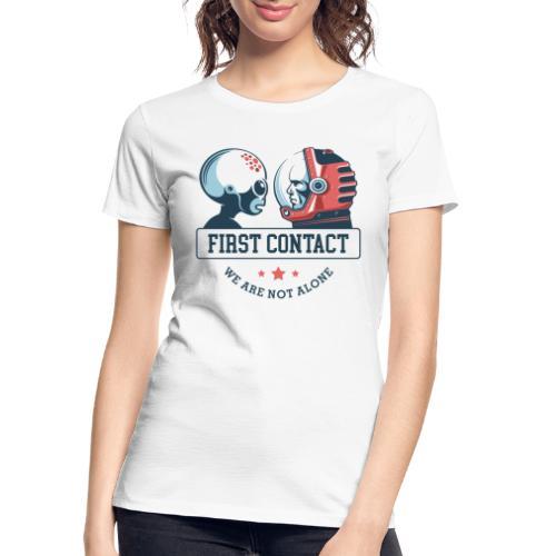 alien astronaut first contact - Women's Premium Organic T-Shirt
