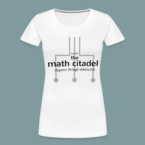 Abstract Math Citadel - Women's Premium Organic T-Shirt