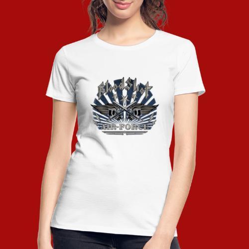 BloodShot Air Force with black - Women's Premium Organic T-Shirt