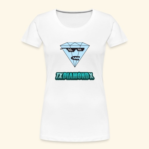 Txdiamondx Diamond Guy Logo - Women's Premium Organic T-Shirt