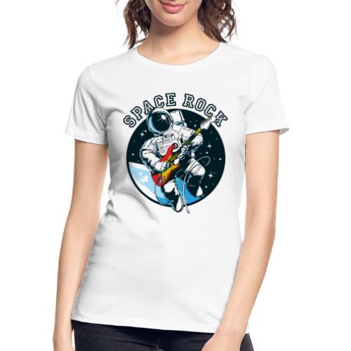 space astronaut rock - Women's Premium Organic T-Shirt