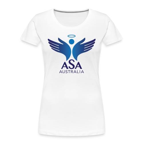 3459 Angelman Logo AUSTRALIA FA CMYK - Women's Premium Organic T-Shirt