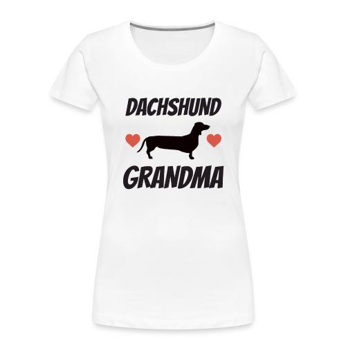 Dachshund Grandma - Women's Premium Organic T-Shirt