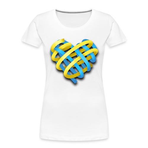 Ukrainian heart - Women's Premium Organic T-Shirt
