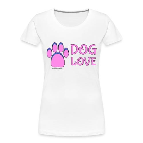 Pink Dog paw print Dog Love - Women's Premium Organic T-Shirt