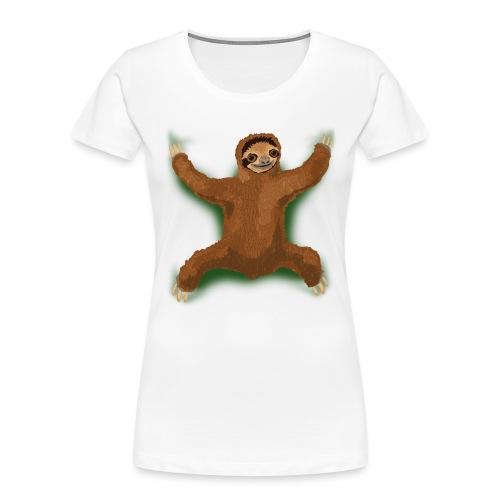 Sloth Love Hug - Green - Women's Premium Organic T-Shirt