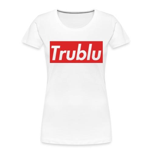 Trublu Red Box Logo(Big) - Women's Premium Organic T-Shirt