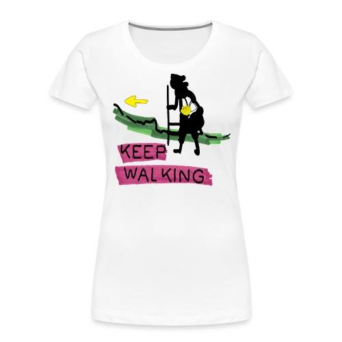 Keep walking buen camino sc t ss - Women's Premium Organic T-Shirt