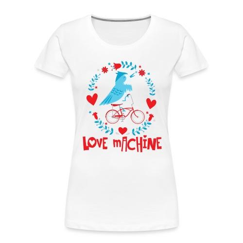 Cute Love Machine Bird - Women's Premium Organic T-Shirt