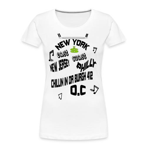 A170455+East+Coast_rev+3+ - Women's Premium Organic T-Shirt
