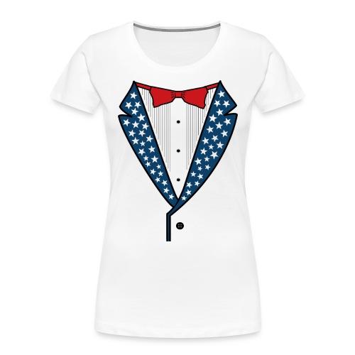 Star Spangled Tuxedo T-Shirt - Women's Premium Organic T-Shirt
