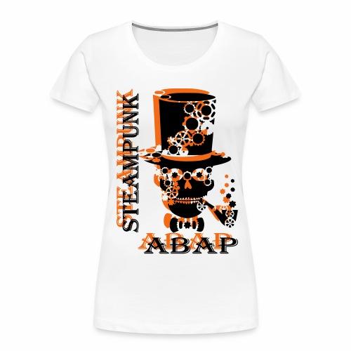 Steampunk Skull - Women's Premium Organic T-Shirt