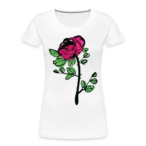 watercolor rose - Women's Premium Organic T-Shirt