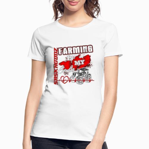 saskhoodz farming - Women's Premium Organic T-Shirt