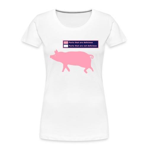 Bacon Pig Pork BBQ - Women's Premium Organic T-Shirt