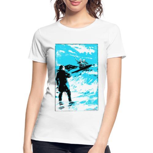 surfer skeletons - Women's Premium Organic T-Shirt