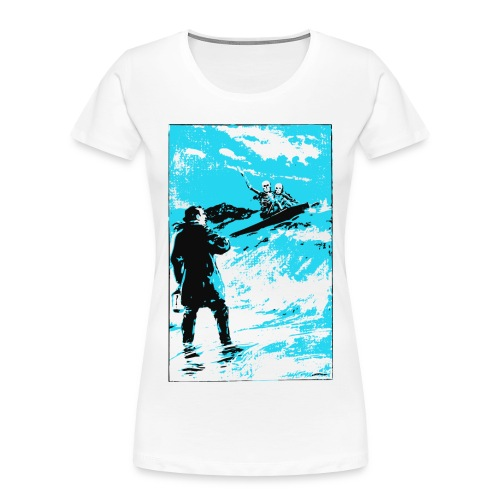 surfer skeletons - Women's Premium Organic T-Shirt