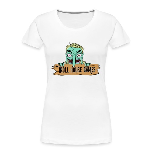 Troll House Games Cartoon Logo - Women's Premium Organic T-Shirt
