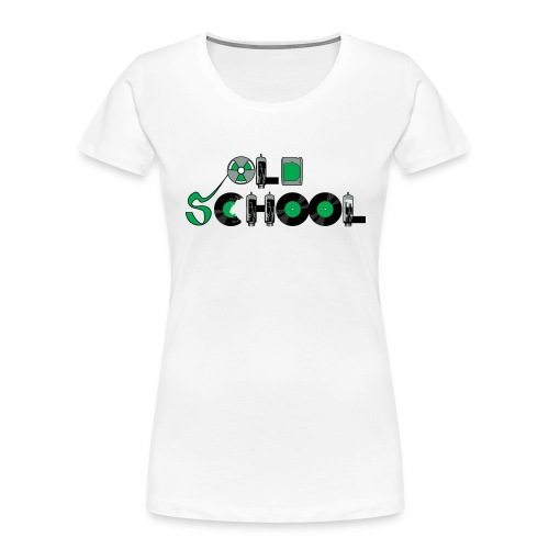 Old School Music - Women's Premium Organic T-Shirt
