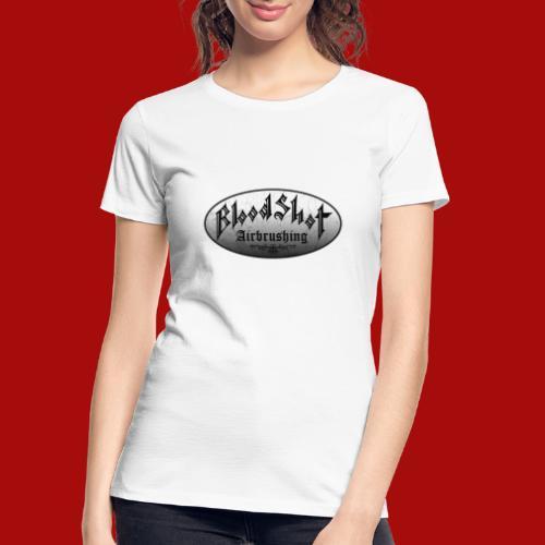 BloodShot Logo Black/White - Women's Premium Organic T-Shirt