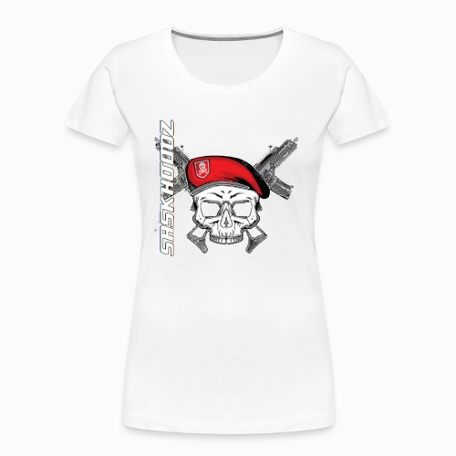 saskhoodz skull - Women's Premium Organic T-Shirt