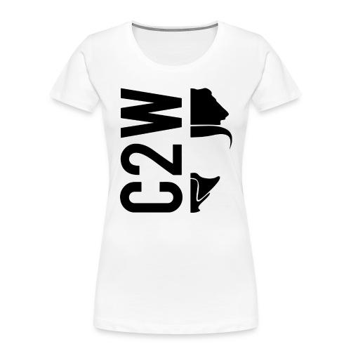 C2W Split Logo - Black - Premium Tee - Women's Premium Organic T-Shirt