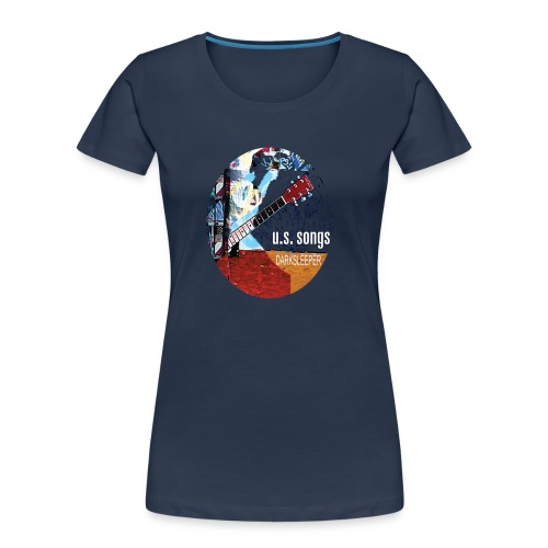 US circle 2 - Women's Premium Organic T-Shirt