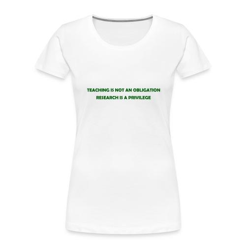Teaching - Women's Premium Organic T-Shirt