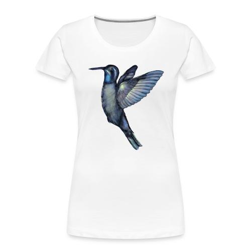 Hummingbird in flight - Women's Premium Organic T-Shirt