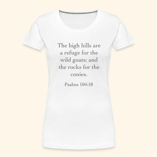 High Hills KJV - Women's Premium Organic T-Shirt