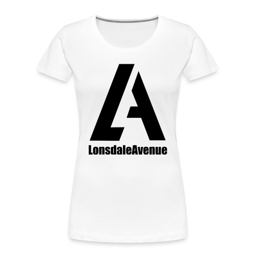 Lonsdale Avenue Logo Black Text - Women's Premium Organic T-Shirt