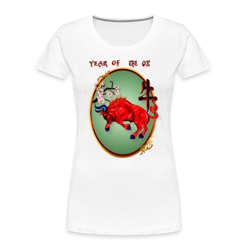 The Red Ox Oval - Women's Premium Organic T-Shirt