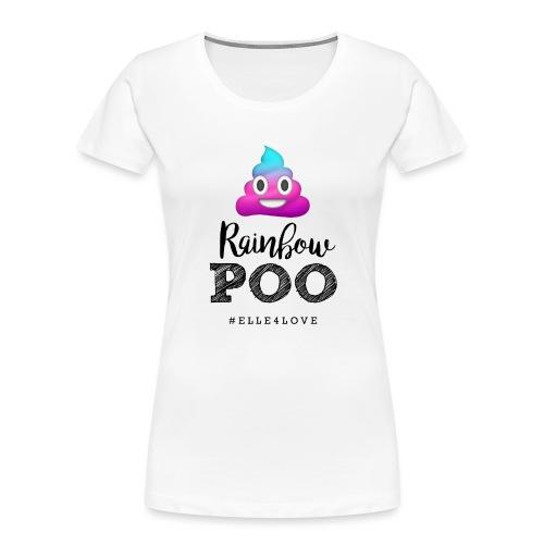 Rainbow Poo - Women's Premium Organic T-Shirt